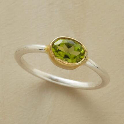 Add a dash of vibrancy to your ensemble with this clear energy green peridot ring.