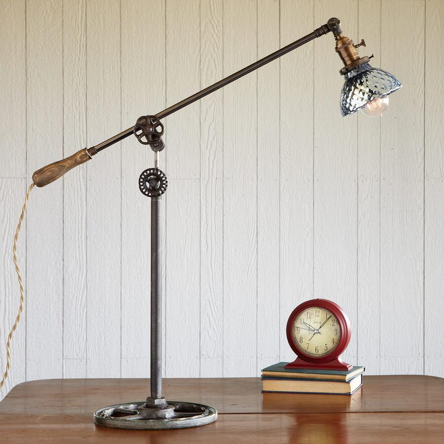 ONE-OF-A-KIND BLUE BALANCE LAMP