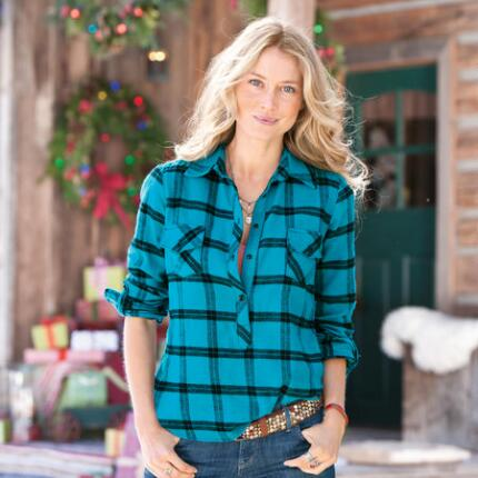 THE PERFECT PLAID HENLEY