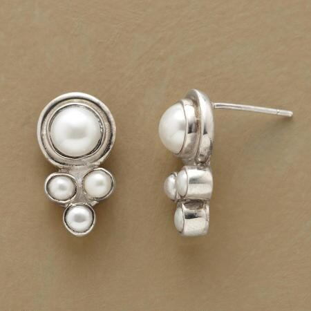 A pair of Sundance exclusive pearl post earrings that drips with a shining timelessness.