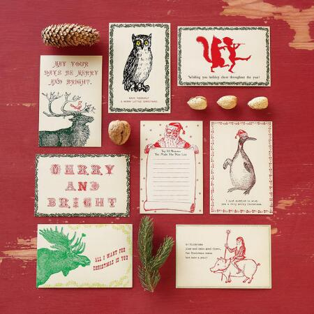 VINTAGE HOLIDAY POSTCARDS S/8