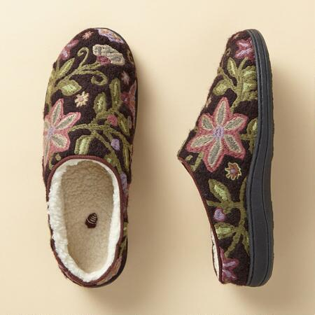 CREWELWORK SLIPPERS