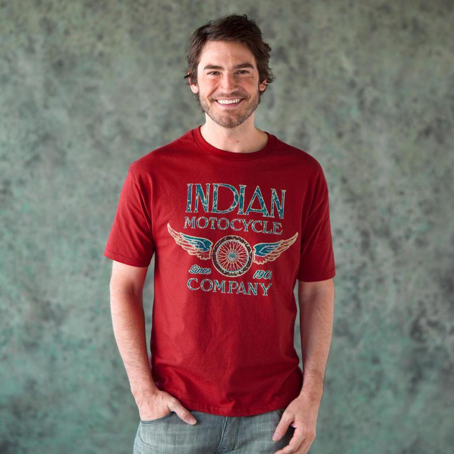 INDIAN S/S WINGED WHEEL TEE