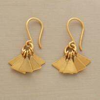 GOLDPLATE FANFARE EARRINGS