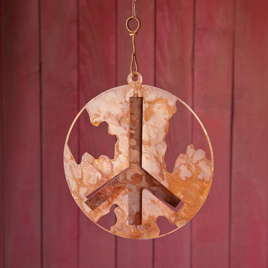 LAYERS OF WORLD PEACE HANGING ART
