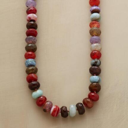 An agate rondelle necklace that glints and gleams in every color.