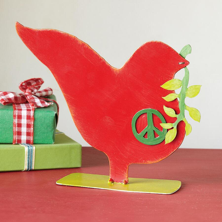 RED PEACE DOVE