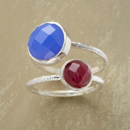 RUBY AND CERULEAN RING DUO S/2