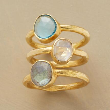 COOL GEMS RING TRIO