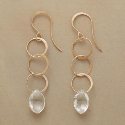TOPAZ TRAPEZE EARRINGS