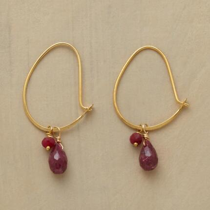 DOUBLE RUBY EARRINGS