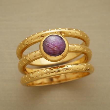 PLUM PRETTY RING TRIO, SET OF 3