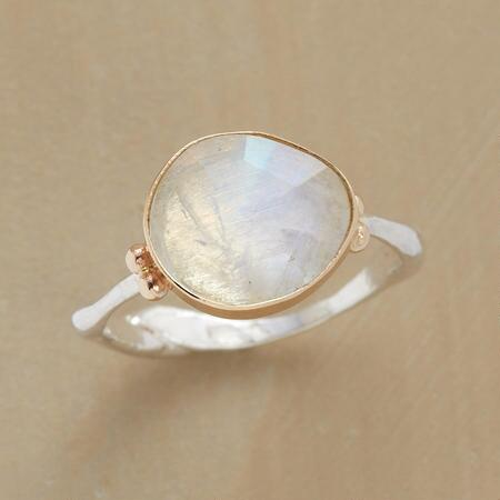 SERENIPITOUS MOONSTONE RING