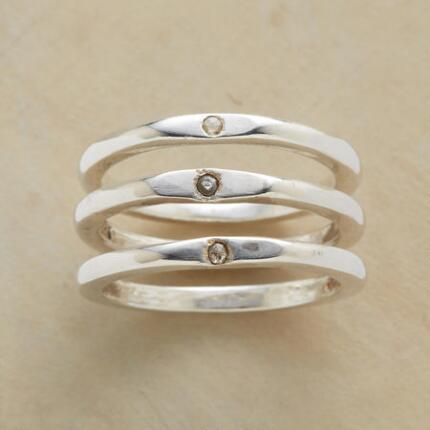DIAMOND PLATEAU RING TRIO S/3