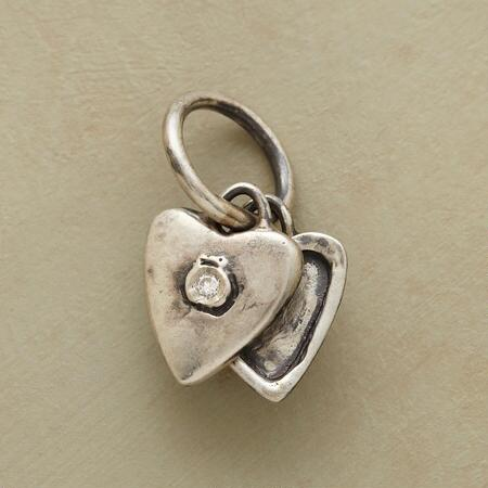 SILVER HEART LOCKET CHARM