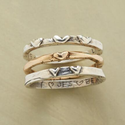 THOUGHTFUL LIFE RING TRIO