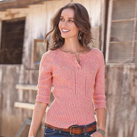 DIRECTIONAL HENLEY SWEATER