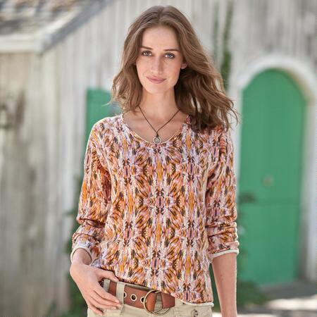 FINELY FEATHERED PULLOVER PETITES