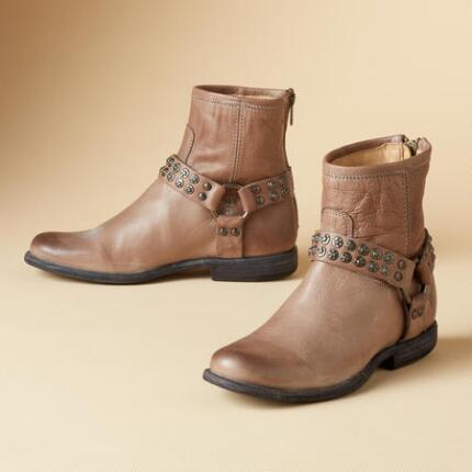 PHILIP STUDDED HARNESS BOOTS