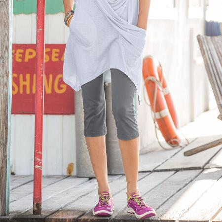 A pair of slimming stretch capris that look just as good as they feel.