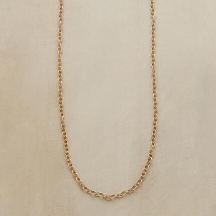 This Jes MaHarry gold chain necklace can be worn alone or loaded with the charms of your choosing.