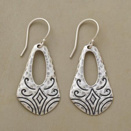 SILVER SLING EARRINGS