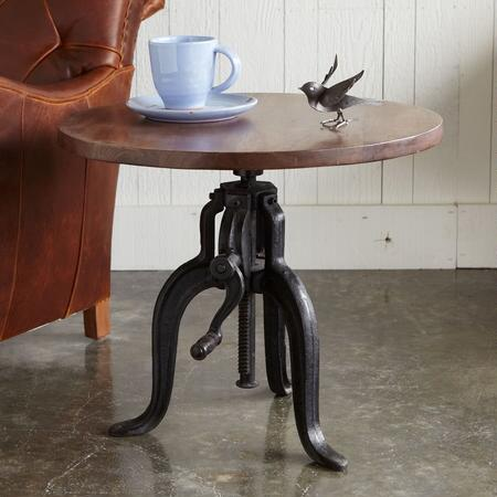 ROCKWELL ADJUSTABLE ROUND SIDE TABLE