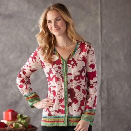 HOLIDAY BOUQUET BLOUSE