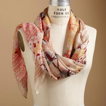 BORDEAUX ROSE SCARF