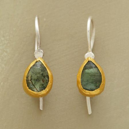 EMERALD PEAR EARRINGS