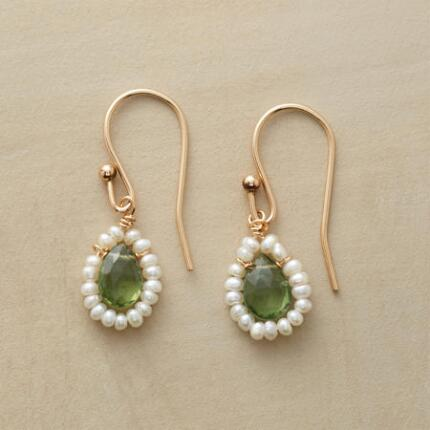 GREEN PAVILION EARRINGS