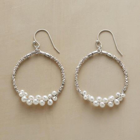 PEARLY BUBBLES HOOP EARRINGS