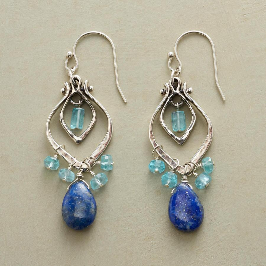 TEARS EN BLEU EARRINGS