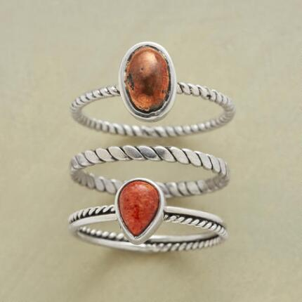 FIRE AND EARTH RINGS S/3