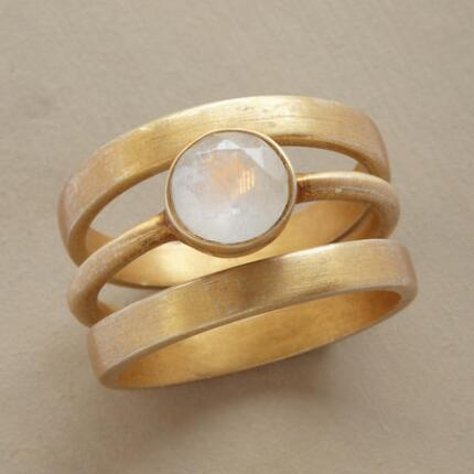 These gorgeous solo luna moonstone rings will set your ensemble aglow.