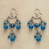 INDIGO TEARS EARRINGS