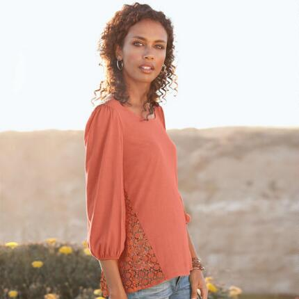 SUNRISE LACE DUET TEE
