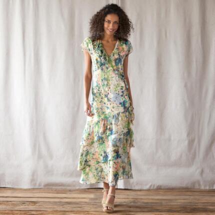 WATERGARDEN MAXI DRESS PETITES