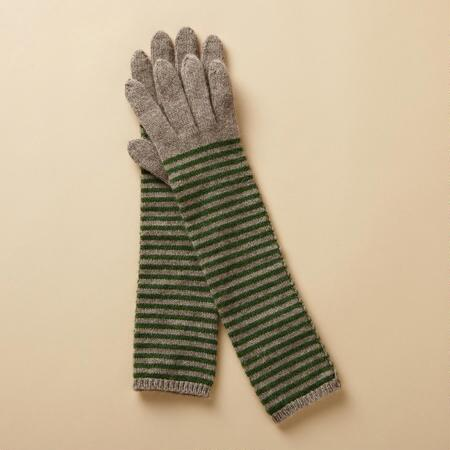 CANDY STRIPE CASHMERE LONG GLOVES