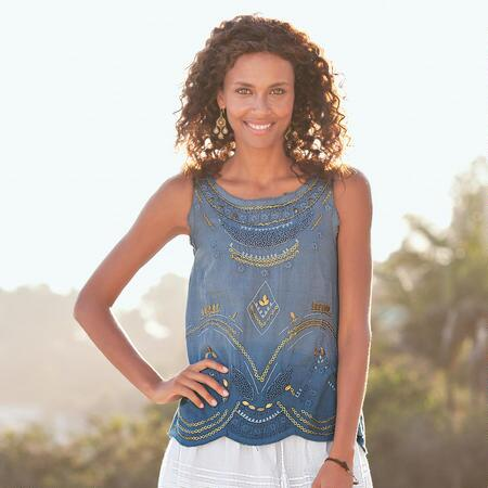 GYPSY COOL LINEN SHELL