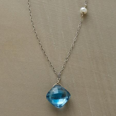 CHECKERBOARD TOPAZ NECKLACE