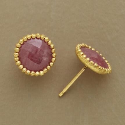 ROSE SAPPHIRE EARRINGS