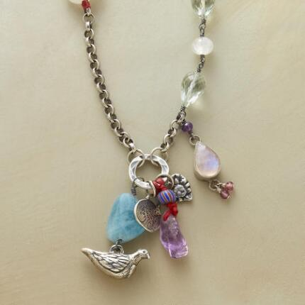 The unique design of this Jes MaHarry pastel charms necklace makes it a truly special piece.