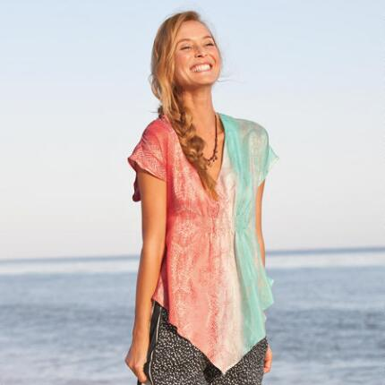 SUN & SEA SILK TUNIC