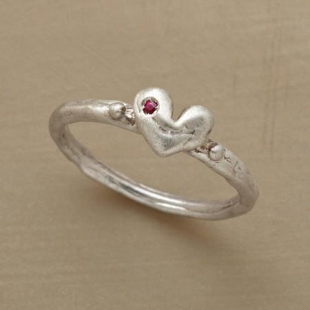 RUBY SWEETHEART RING