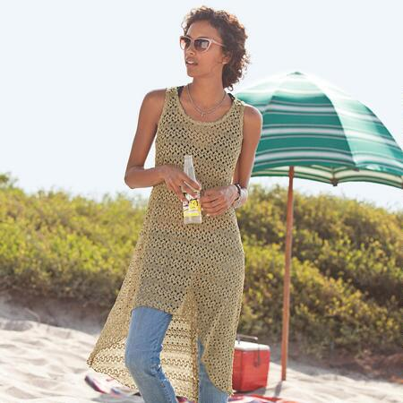 GILDED MESH COVER-UP