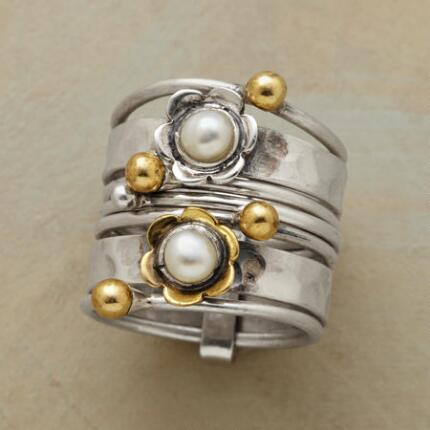 These Pearl Petal Stack Rings combine into a pretty picture you won't see anywhere else.