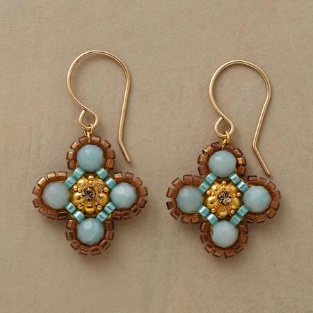 AMAZONITE CLOVER EARRINGS