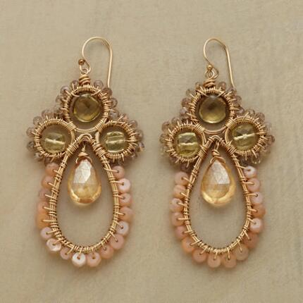 CHAMPAGNE LACE EARRINGS