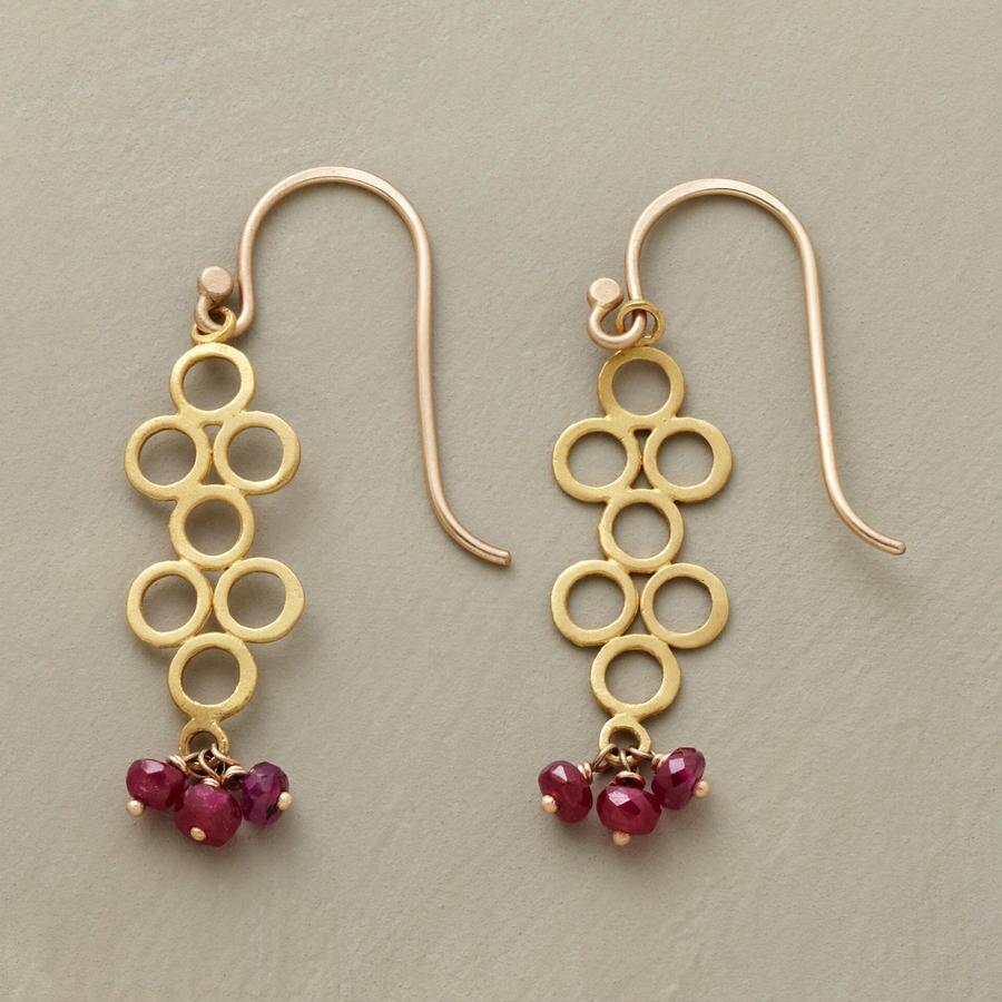 RUBY BUBBLE EARRINGS